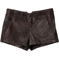Portabello Short - Chocolate Leather ($440) ❤ liked on Polyvore
