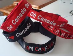 Canada Day Collars! Or to help cheer on Canadian Athletes at the Olympics .  Either way - doesn't your dog need one?