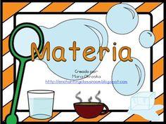 Esta es una pequeña lección sobre la materia.  Esta lección incluye:  •12 tarjetas de vocabulario: (materia, las propiedades de la materia, textura, temperatura, peso, líquido, gaseoso, sólido, volumen, hundir, flotar, evaporar y consensar. ) •1 actividad de ¿flota o se hunde? •1 actividad de ¿frío o caliente? •1actividad de ¿pesado o liviano¿ •1 actividad de organizar elementos de acuerdo a su propiedad •1 hoja de investigación que se puede utilizar con las actividades anter...