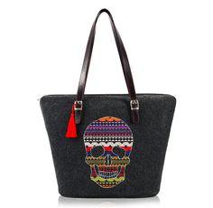 halloween in dawanda Torebka filcowa 348 - Farbotka - Torebki Shoulder Bag, Handbags, Tote Bag, Shopping, Halloween, Fashion, Scrappy Quilts, Moda, Totes