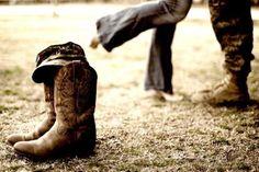 Combat boots & cowboy boots