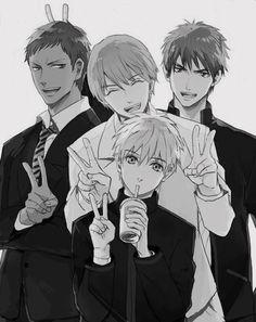 Kuroko no Basuke - - Kagami Taiga - Aomine Daiki - Kuroko - Kise Midorima Shintarou, Kise Ryouta, Kagami Taiga, Kuroko No Basket, Cute Anime Guys, I Love Anime, Manga Art, Manga Anime, Basketball Anime