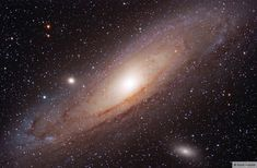 The Andromeda galaxy can be seen as a hazy patch with the naked eye from a dark site -- it is the most distant object you are likely to see with the unaided eye. The Andromeda Galaxy and the Milky Way are going to collide in billion years. Dark Site, Whirlpool Galaxy, Andromeda Galaxy, Evening Sky, Dark Matter, To Infinity And Beyond, Face Oil, Milky Way, Stargazing