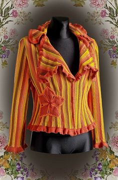 Crochet jacket. I think I'll try different colors.