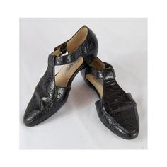 Leather T-Strap Flats // Vintage Italian by winsomeandwayward, $32.00