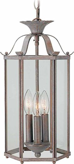 Roth 3 Light Pendant or Semi Flush Mount