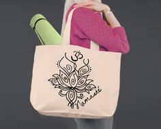 Namaste | Personalized Canvas Tote Bag