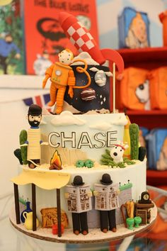 Chase's the Adventure of Tintin Themed Party – Cake