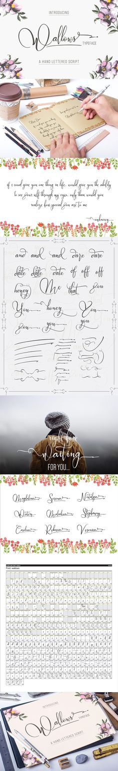 24 Exceptional Quality Fonts (With Web Fonts and Extended Licensing) - Design Cuts Hand Lettering Fonts, Creative Lettering, Handwriting Fonts, Brush Lettering, Cursive, Lettering Design, Script Typeface, Penmanship, Calligraphy Letters