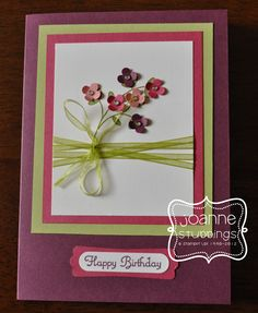 Birthday card for my Mum - September 2012 (using Stampin Up Easy Events)