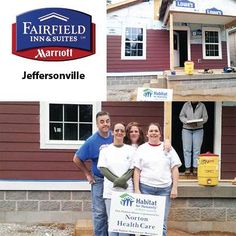 Thank you to our Fairfield Inn & Suites Jeffersonville team for participating in the Habitat for Humanity Rally to Serve yesterday!