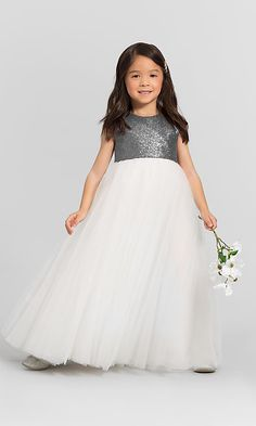 f2b0282eb2d Sequin-Bodice Flower Girl Dress F6417 by Bari Jay