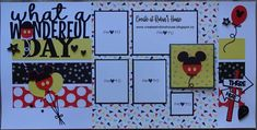 Vacation Scrapbook, Disney Scrapbook Pages, Scrapbook Layout Sketches, Scrapbooking Layouts, Paper Art, Paper Crafts, Disney Ideas, Close To My Heart, Disney Style