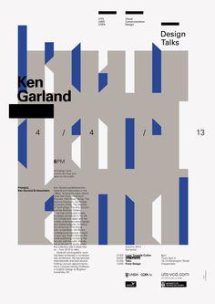 Design Talks #6: Ken Garland - UTS Visual Communication Design (poster by Mark Gowing Design)