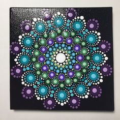 Hand Painted Mandala on Canvas, Mandala Meditation, Dot Art, Calming, Healing, #432 by MafaStones on Etsy