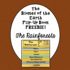 Biomes of the Earth Flip-Up Book Freebie The Rainforest Special Education Classroom, Science Classroom, Teaching Science, Science Activities, Teaching Tools, Classroom Freebies, Reading Activities, Life Science, Classroom Ideas