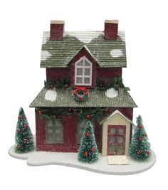 Maker's Holiday LED Paper House-Red