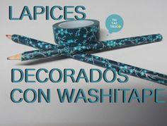 decoración de lápices con washitape https://youtu.be/RLLqXd0DTbo