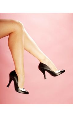 Smitten Two Tone Pump in Matte Black from Pinup Couture Shoes - $56 - SALE $26