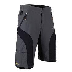 Santic Men's Cycling Padded Shorts Bicycle Breathable Baggy Casual Half Pants Mountain Bikes