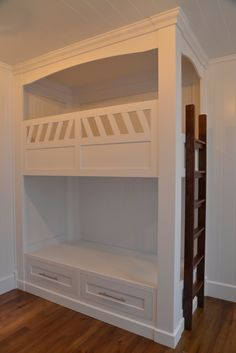 Built in bunk beds - this is exactly what I want.