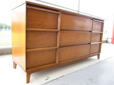 Houston: Mid Century 9-drawer dresser with mirror $650 - http://furnishlyst.com/listings/427399
