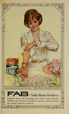 FAB soap flakes, The Bride's Cook Book, by Laura Davenport, 1908 LOVE the old ads! Description from pinterest.com. I searched for this on bing.com/images