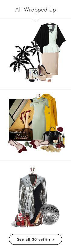 """""""All Wrapped Up"""" by duci ❤ liked on Polyvore featuring Burberry, DKNY, Lipsy, Topshop, Heidi Daus, Jouer, Persy, Spring Street, Orla Kiely and Rupert Sanderson"""