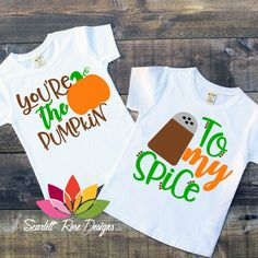 inktastic Thanksgiving Sassy Lil Pumpkin with Fall Leaves Toddler T-Shirt