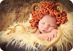 Newborn Baby Boy Photo Prop Lion Hat by MitziKnitz on Etsy, $28.00