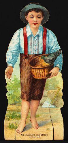 Die Cut Doll – McLaughlin's XXXX Coffee – 1895 Victorian Advertising Trade Card   eBay