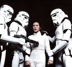 Princess Leia captured by Stormtroopers from Star Wars The Empire Strikes Back