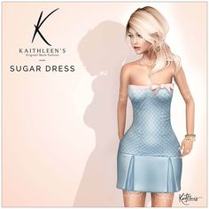 https://flic.kr/p/SquYTd | Kaithleen's Sugar Dress for the Cosmopolitan | Hi guys,  Are you ready for another new release ?  Kaithleen's Sugar Dress for the Cosmopolitan  - 100% original mesh - Maitreya Lara, Belleza Freya-Isis and Venus, Slink body  Take taxi and check this out :  maps.secondlife.com/secondlife/No%20Comment/164/4/23