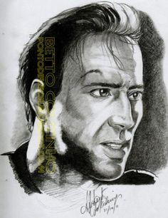 Ponto Difusor by Betto Coutinho: Desenho a Lápis Grafite 6B - Rosto Masculino - Nic...