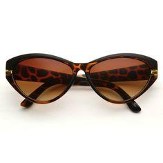 80's - Diane Cateye Sunglasses - Tortoise / Amber 80's. $14.00