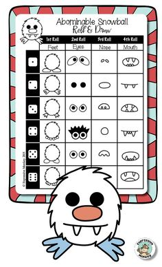 Draw an Abominable Snowball with Expressive Monkey's Roll & Draw page.
