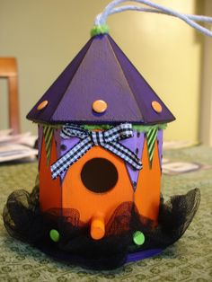 My Halloween birdhouse