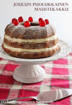 Cream Cake, Christmas Baking, No Bake Cake, Tiramisu, Baking Cakes, Baking Ideas, Cooking, Ethnic Recipes, Sweet