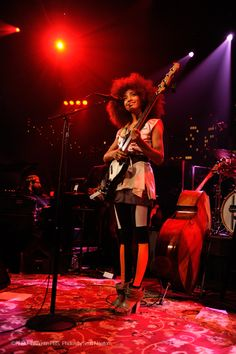 """Esperanza Spalding during her performance in Austin in ACL Live. She's wearing """"Mix/Cut/Paste"""" shoes of the SHOP COLLECTION Spring_Summer 2013 WHAT'S MORE ALIVE THAN YOU™. #EsperanzaSpalding #GrammyMusicAwards #jazz www.whatsmorealivethanyou.com"""