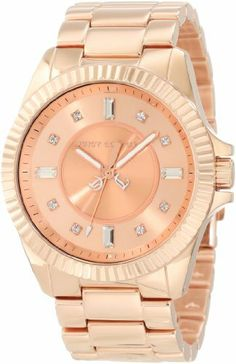Juicy Couture Women's 1900927 Stella Rose Gold Bracelet Watch Juicy Couture. $207.99. Water-resistant to 3 atm (99 feet). Swarovski crystal markers. Rose gold sunray dial. Japanese quartz movement. 40 mm rose gold plated stainless steel case