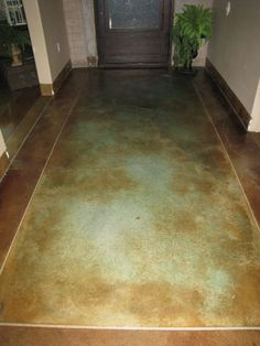 stained concrete floor...one day in my master bath! i hate tile/grout. all I can think about is what is growing in all the seams/cracks.