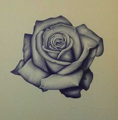 Rose Tattoo Outline
