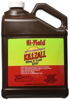 Voluntary Purchasing Group 33693 Hi-Yield Killzall Weed and Grass Killer, > Dries On Plants Fast To Start Working Quickly Multiple Use Formulation For Lawn Renovation, Brush And Vine Control And Stump Treatment Weed Types, Organic Weed Control, Grass Weeds, Green Lawn, Pest Control, Lawn And Garden, Biodegradable Products, Organic Gardening, Gardening