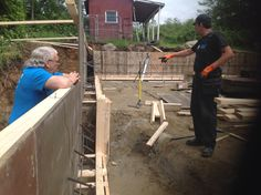 Footings and foundation