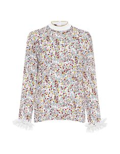 2017 Fashion Trends - MOTHER OF PEARL Lucas Floral Georgette Blouse