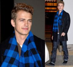 Hayden Christensen #scarf #celebrity #fashion