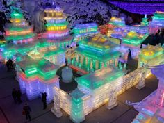 Ice houses at the Chinese Lantern Festival
