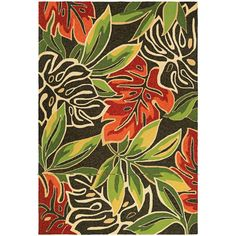 Couristan Covington Areca Palms/Brown-Forest Green Indoor/Outdoor Area Rug - x (Areca Palms/Brown-Forest Green), Brown, Size x (Polypropylene, Floral) Deco Floral, Rectangle Area, Exotic Beauties, Indoor Outdoor Area Rugs, Outdoor Patios, Outdoor Spaces, Outdoor Living, Dragons, Dark Brown