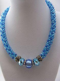 Bead Jewellery, Beaded Jewelry, Jewelery, Handmade Jewelry, Beaded Bracelets, Necklaces, Beaded Necklace Patterns, Jewelry Patterns, Knitted Necklace