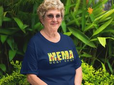 Best Ever Mema Floral Grandparents Day gifts